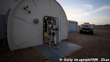 China Mars Base 1 Station in der Wüste Gobi