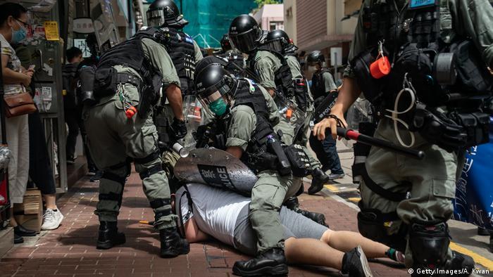 Hongkong   Pro-Democracy Proteste am Tag des 23 Jubiläum der Übergabe an China (Getty Images/A. Kwan)