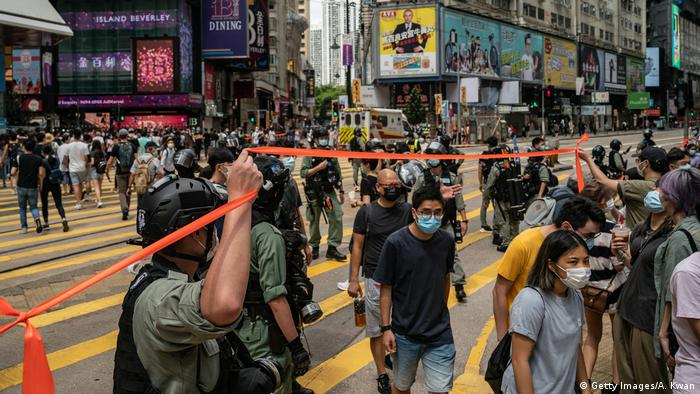 Hongkong | Pro-Democracy Proteste am Tag des 23 Jubiläum der Übergabe an China (Getty Images/A. Kwan)