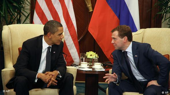 US president Obama and Russian president Medvedev