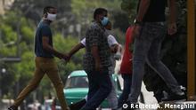 Kuba Havanna Protest gegen die Ermordung eines Schwarzen