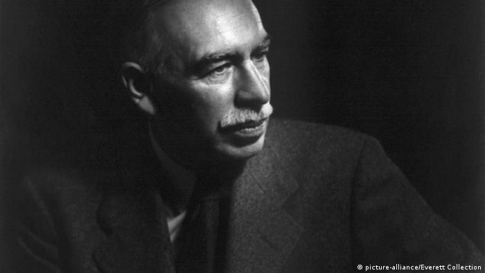 Der britische Wirtschaftexperte John Maynard Keynes