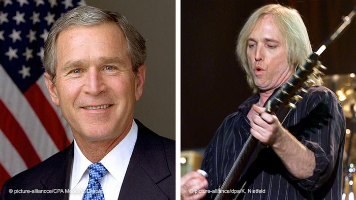 Bildkombo | George W. Bush und Tom Petty