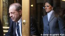 USA New York Harvey Weinstein verlässt Gerichtsgebäude