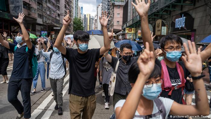 China I Proteste in Hongkong (picture-alliance/A. Tsang)