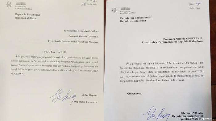 Drohbrief an den Abgeordneten der Republik Moldau Stefan Gatcan nach Austrittsvorhaben