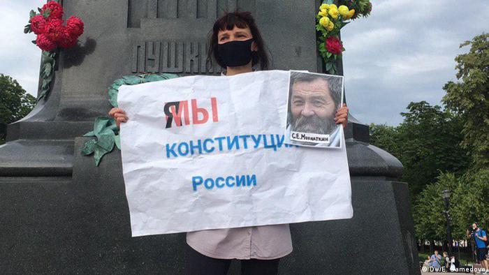 Russland, Moskau: Proteste gegen Verfassungsänderungen