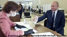 Russland Moskau | Verfassungsreferendum |Wladimir Putin, Präsident