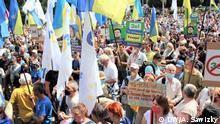 Ukraine I Proteste gegen die politische Verfolgung des Ex-Präsidenten Poroschenko in Kiew