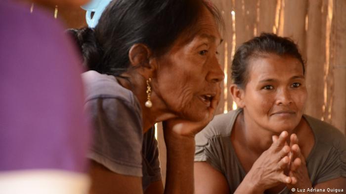 Mujeres del pueblo Kubeo, en el Vaupés, Amazonía colombiana.