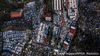 Αεροφωτογραφία του καταυλισμού στη Μόρια