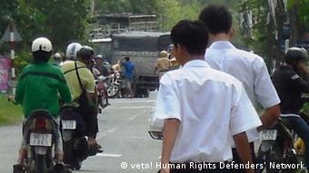 Vietnam vietnamesische Sicherheitskräfte blockieren den Zugang zum Haus von Nguyen Bac Truyen