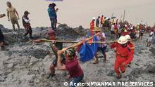 Myanmar Mindestens 110 Tote nach Erdrutsch in Bergwerk