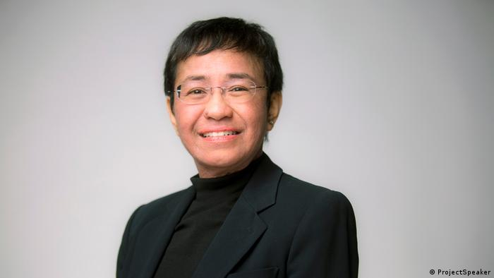 Maria Ressa - Co-founder and CEO of the news website Rappler, Philippines (2020)