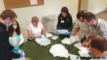 Russland Abstimmung über Verfassungsänderung   Wahllokal № 40 in Sankt-Petersburg. Foto: Satanowski / DW am 1.7.2020