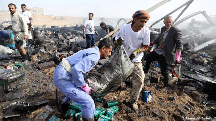 Jemen Sanaa | Krieg |Luftangriff durch Saudi-Arabien