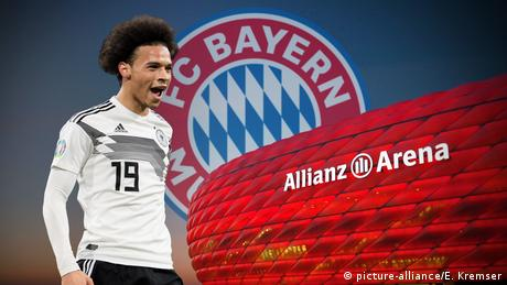 Leroy Sane has completed his move to Bayern Munich (picture-alliance/E. Kremser)