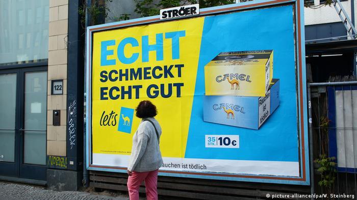Реклама сигарет в Берлине