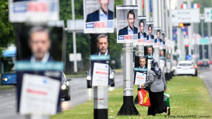 Electoral posters in Zagreb (Getty Images/AFP/D. Lovrovic)