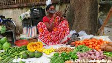 Indien Kalkutta | Mund-Nasenschutz im Alltag