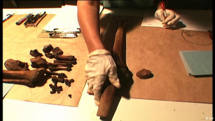 Filmstill DW-Beitrag Srebrenica | Forensisches Labor der ICMP (DW)