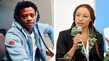 Juli 2020, Studioaufnahmen von Bob Barry, DW Afrique Und Tara Méité, Starp-up Expertin
