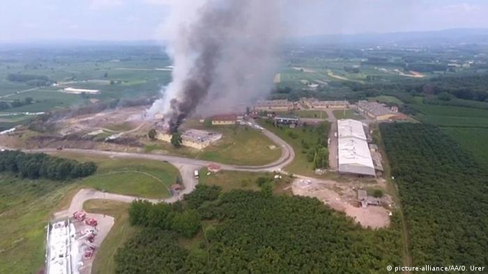 Türkei Sakarya Explosion in Feuerwerksfabrik