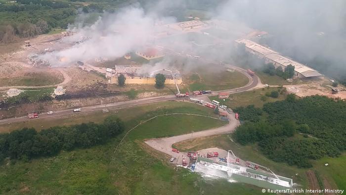 Türkei Sakarya Explosion in Feuerwerksfabrik (Reuters/Turkish Interior Ministry)