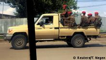 Äthiopien Militär Pick-up Truck in Addis Abeba