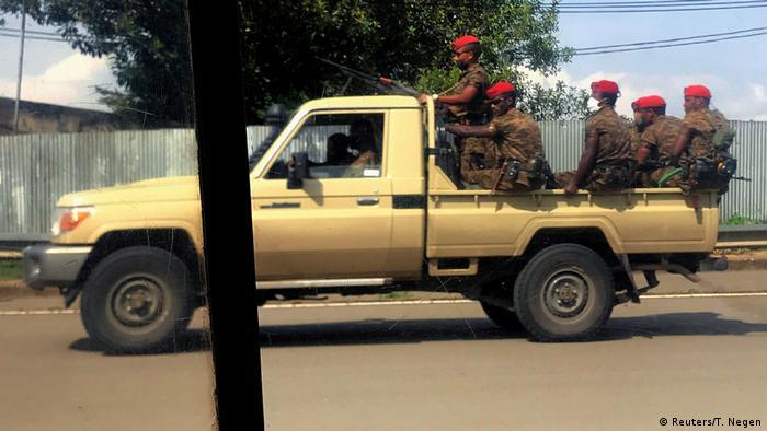 Äthiopien Militär Pick-up Truck in Addis Abeba