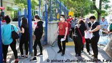 Türkei Ankara Studenten mit Mundschutz