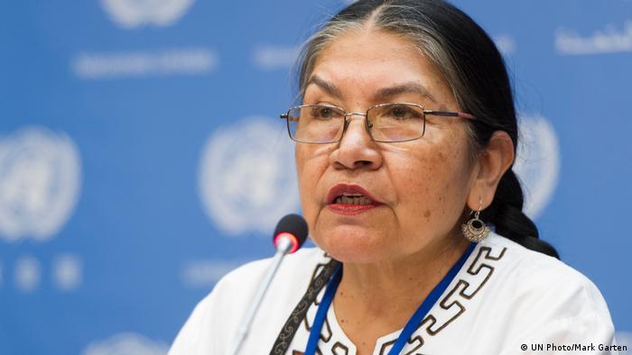 Tarcila Rivera, líder indígena coordinadora del Enlace Continental de Mujeres Indígenas de las Américas (ECMIA), una red integrada por más de 30 organizaciones indígenas de 23 países.