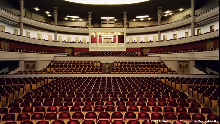 Leerer Konzertsaal im Palais des Beaux-Arts BOZAR in Brüssel