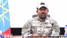 Äthiopien Fernsehansprache Abiy Ahmed, Ministerpräsident