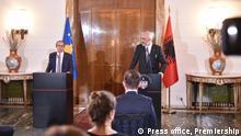Albanien Pressebild Besuch Avdullah Hoti, Premierminister Kosovo