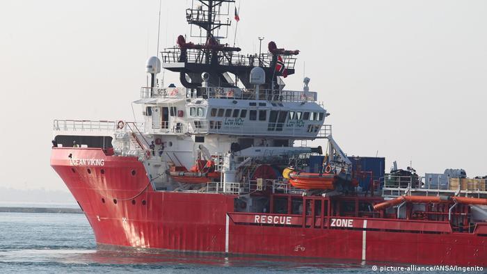 Italien Rettungsschiff Ocean Viking