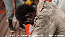APTOPIX Mittelmeer Flüchtlinge auf dem Ocean Viking RettungsschiffMigrants Ship