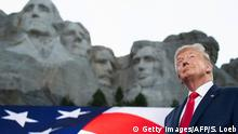 USA Keystone I Donald Trump am Mount Rushmore National Memorial (Getty Images/AFP/S. Loeb)