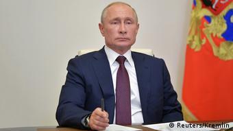 Russland Moskau   Nach der Abstimmung über Verfassungsänderung: Wladimir Putin