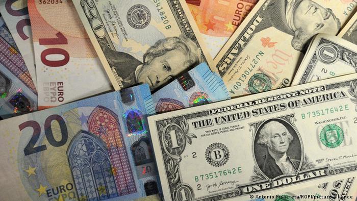 Euros, yuan and dollars