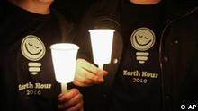 Earth Hour in Amman Jordanien