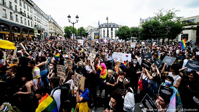 LGBT+ protest in Paris