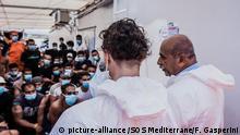 Italienisches Ärzte Team auf der Ocean Viking
