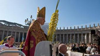 Papst in Rom an Palmsonntag