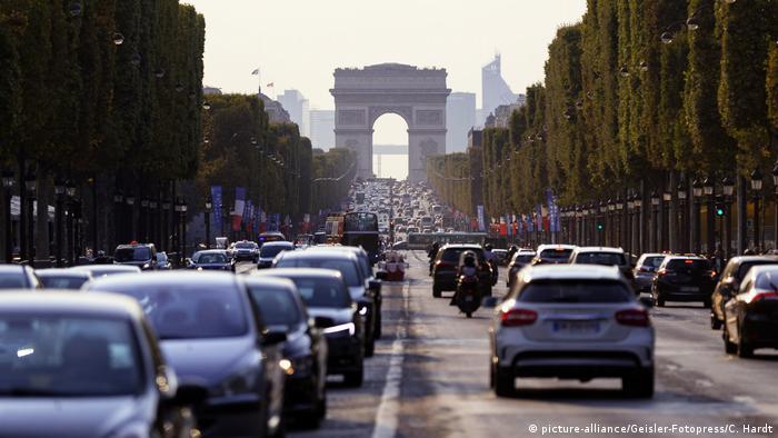 Champs-Élysées mit Blick zum Triumphbogen