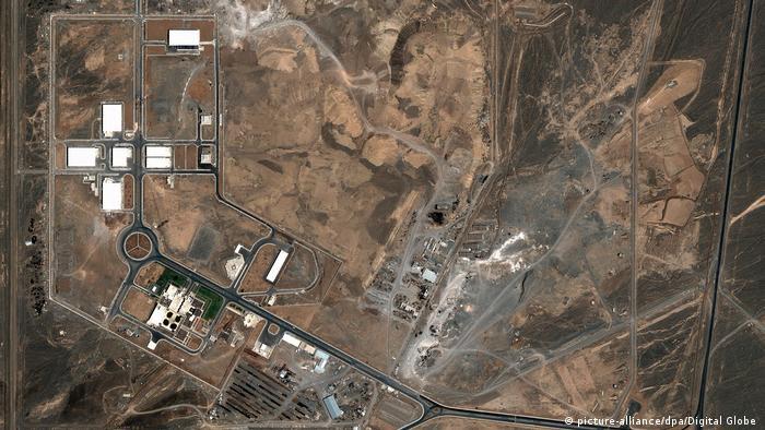 Сателитна снимка на ядреното съоръжение в Натанз
