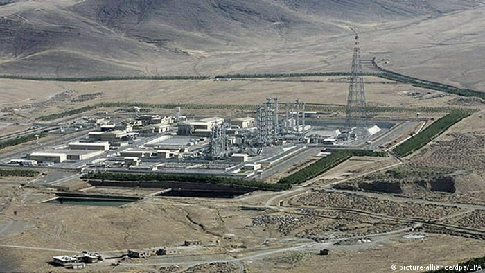 Iran I An aerial shot of the Khondab heavy-water plant in Arak, central Iran, which was inaugurated Saturday, 26 August 2006, by Iranian President Mahmoud Ahmadinejad, just six days before the UN deadline ordering Iran to suspend its atomic programmes or face sanction.