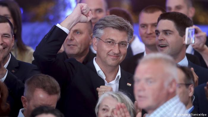 Wahlen in Kroatien I Andrej Plenkovic (picture-alliance/dpa)