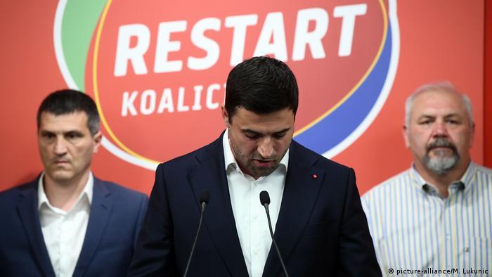 Kroatien I Parlamentswahl I Sozialdemokraten (picture-alliance/M. Lukunic)
