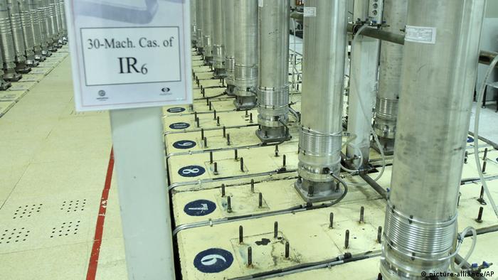 أجهزة طرد مركزي في منشأة تخصيب اليورانيوم في نطنز